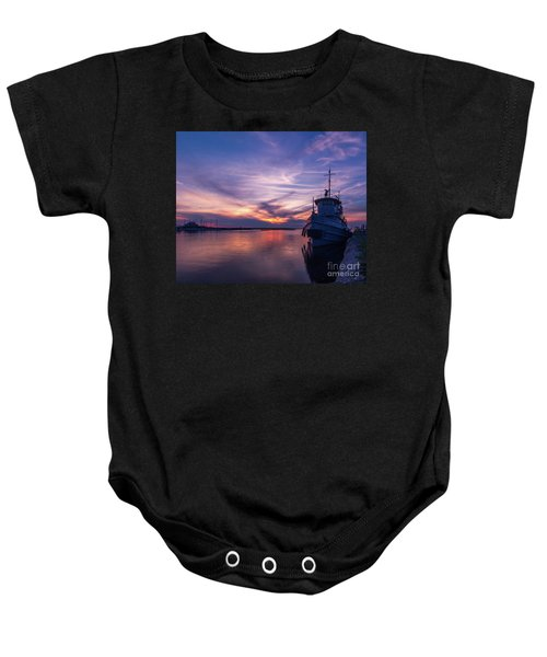 A Tugboat Sunset Baby Onesie