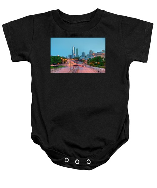 A View Of Columbus Drive In Chicago Baby Onesie