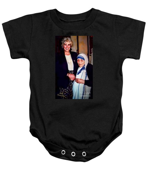 A Vist With Mother Teresa Baby Onesie