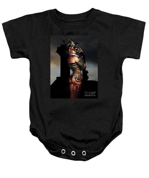A Warrior Stands Alone Baby Onesie