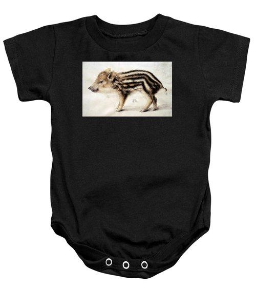 A Wild Boar Piglet Baby Onesie