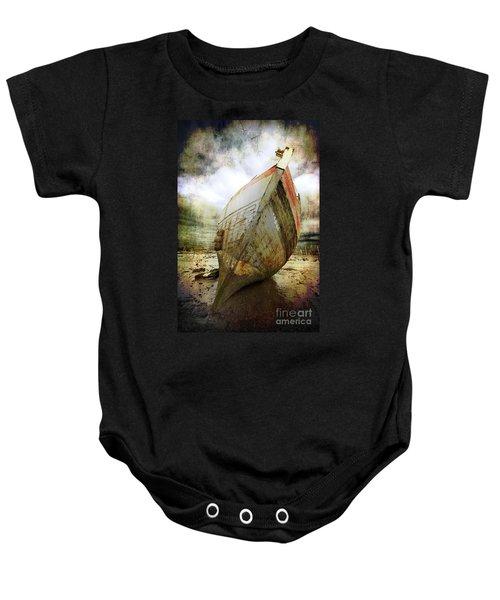 Abandoned Fishing Boat Baby Onesie