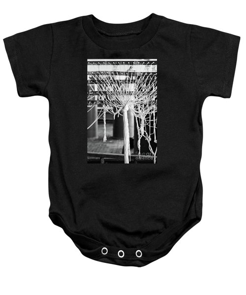 Abandoned Textile Mill, Lewiston, Maine  -48692-bw Baby Onesie