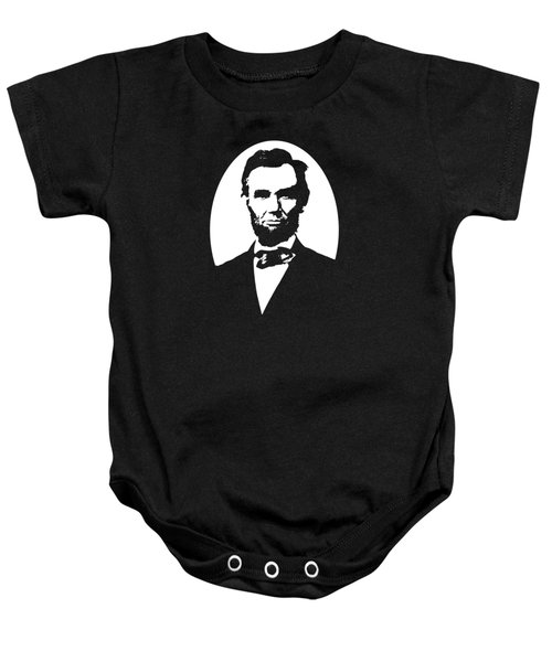 Abraham Lincoln - Black And White Baby Onesie