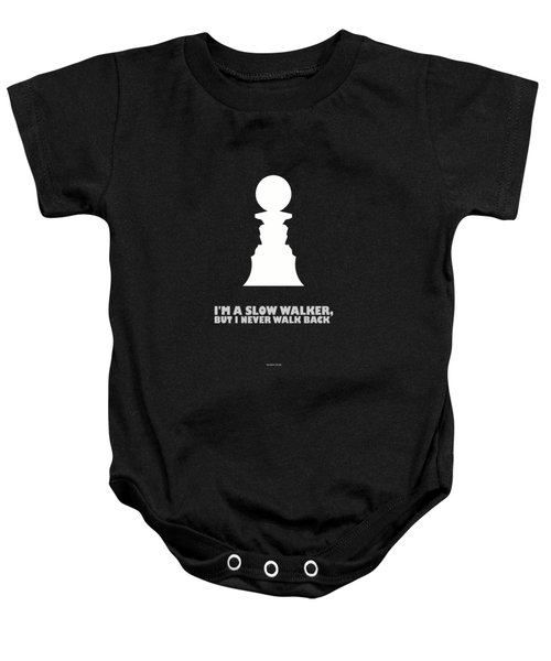Abraham Lincoln Motivational Quotes Poster Baby Onesie