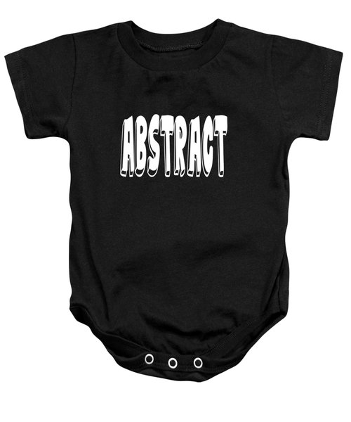 Abstract One Word Quotes Symbolic Art Quotes  Baby Onesie