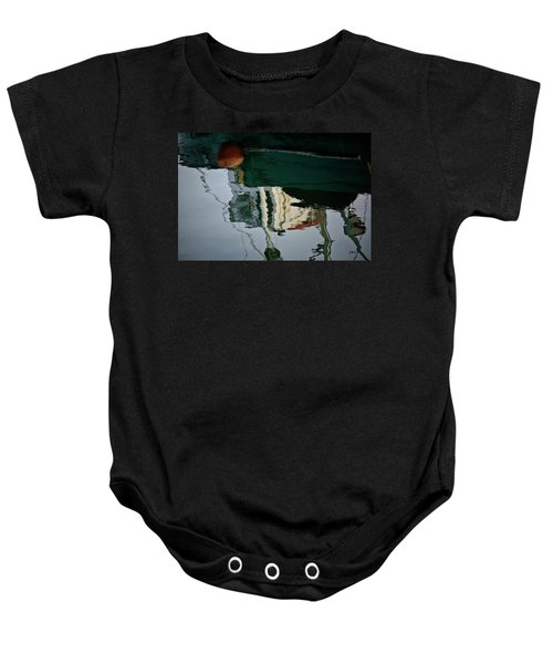 Abstract Boat Reflection II Baby Onesie