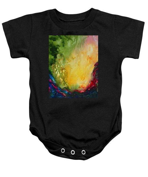 Abstract Color Splash Baby Onesie