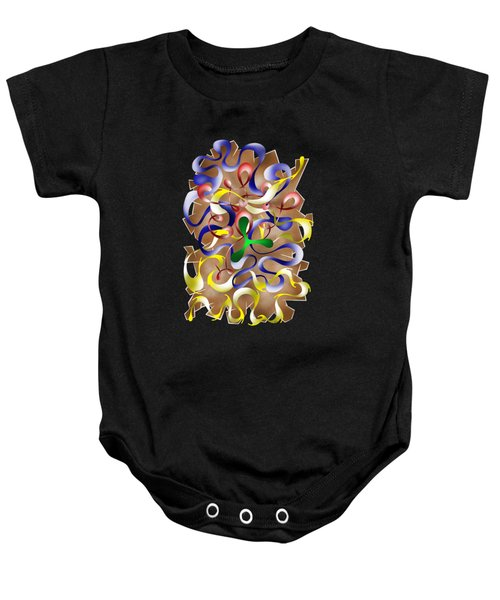 Abstract Digital Art - Jamurina V2 Baby Onesie by Cersatti