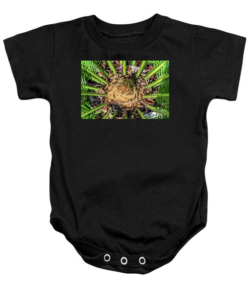 Abstract Nature Tropical Fern 2096 Baby Onesie