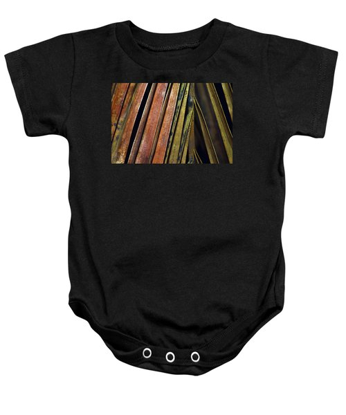 Abstract Palm Frond Baby Onesie