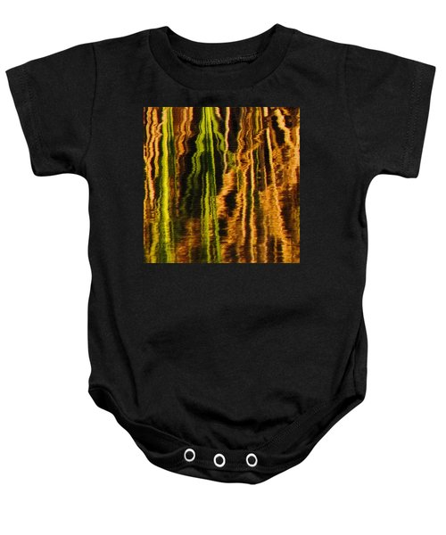 Abstract Reeds Triptych Middle Baby Onesie