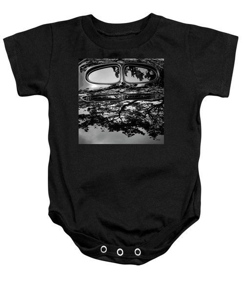 Abstract Reflection Bw Sq II - Vehicle Baby Onesie