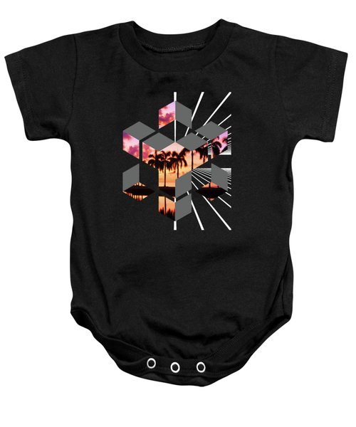 Abstract Space 3 Baby Onesie