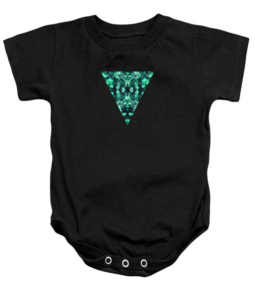 Abstract Surreal Chaos Theory In Modern Poison Turquoise Green Baby Onesie