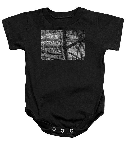 Adam's Mill Water Wheel Baby Onesie