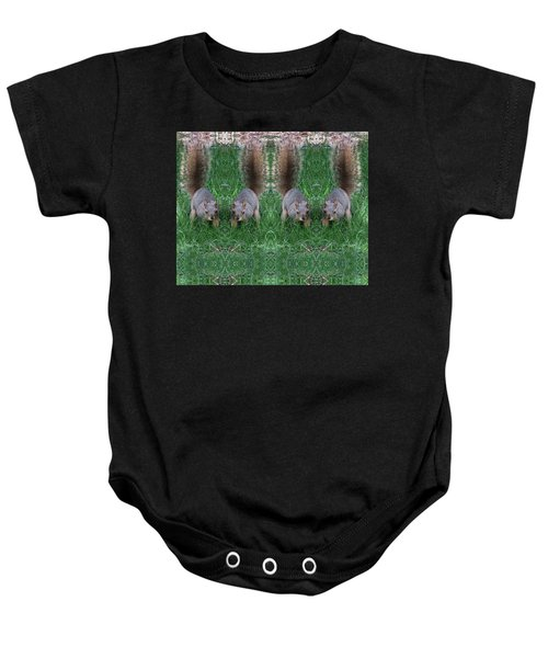 Advancing Army Of Squirrels Baby Onesie