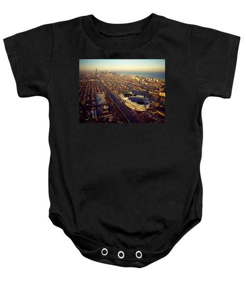 Aerial View Of A City, Old Comiskey Baby Onesie