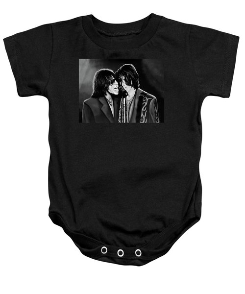 Aerosmith Toxic Twins Mixed Media Baby Onesie by Paul Meijering