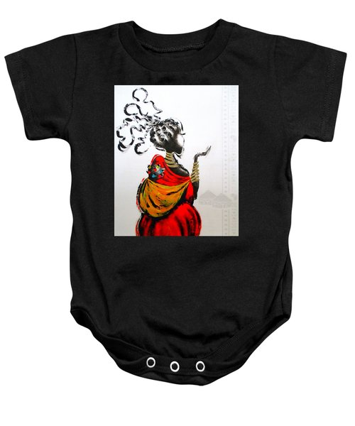 African Lady And Baby Baby Onesie