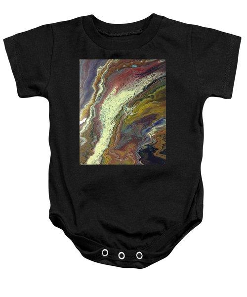 Agate Waterfall Baby Onesie