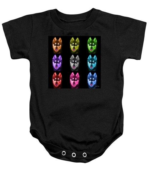 Alaskan Klee Kai - 6029 -bb - M Baby Onesie