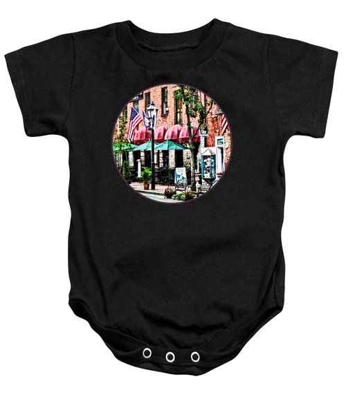 Alexandria Street With Cafe Baby Onesie