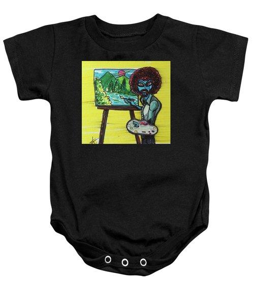 alien Bob Ross Baby Onesie