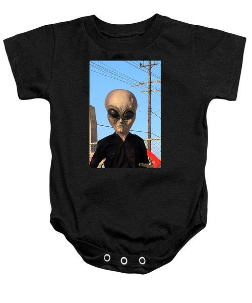 Alien Face At 6th Street Bridge Baby Onesie