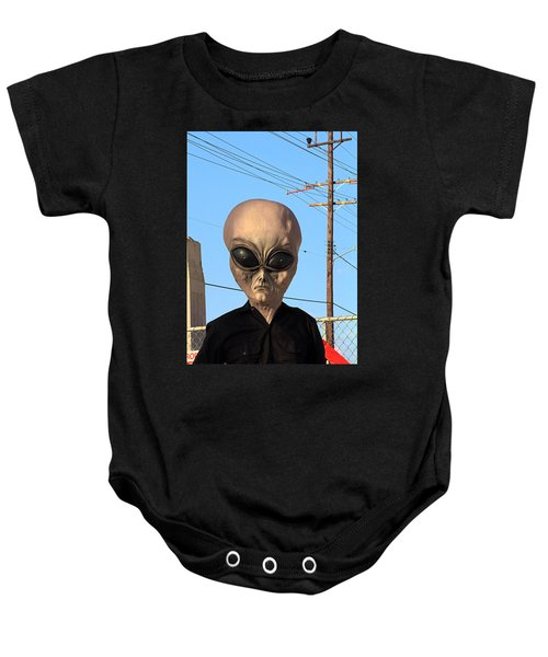 Alien Face At 6th Street Bridge Baby Onesie