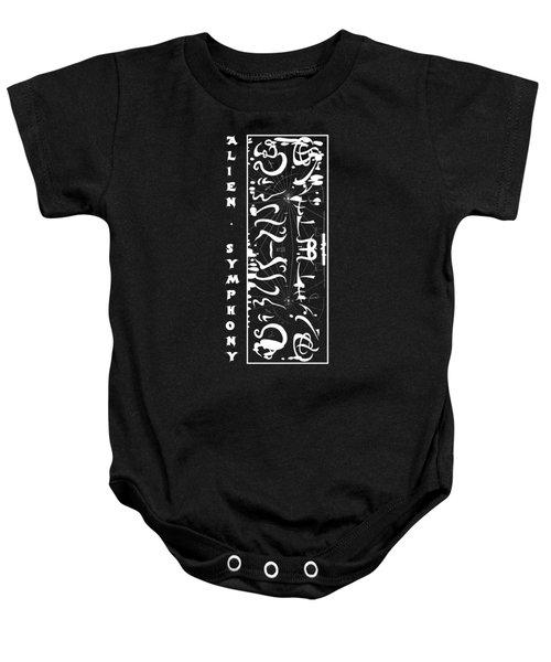 Alien Symphony T Shirt Baby Onesie