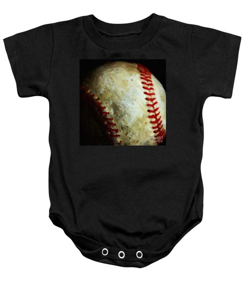 All American Pastime - Baseball - Square - Painterly Baby Onesie