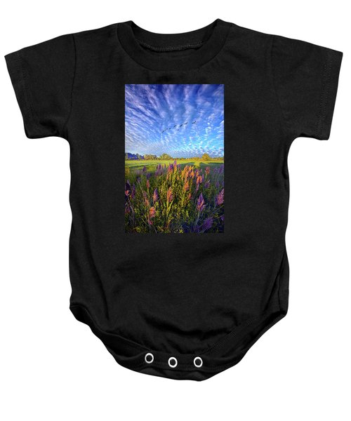 All Things Created And Held Together Baby Onesie