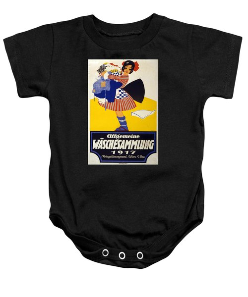 Allgemeine Waschesammlung 1917 - Vintage Clothing Advertising Poster Baby Onesie