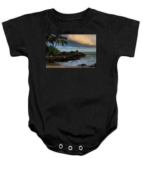 Aloha Naau Sunset Paako Beach Honuaula Makena Maui Hawaii Baby Onesie