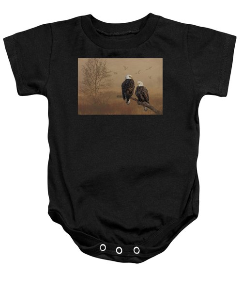 American Bald Eagle Family Baby Onesie