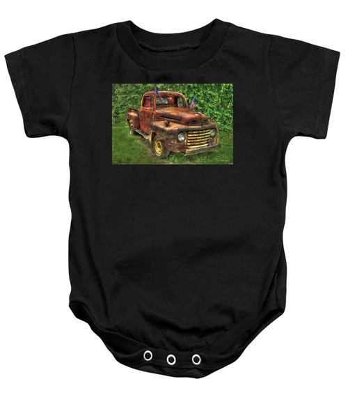 American Ford 1950 F-1 Ford Pickup Truck Art Baby Onesie