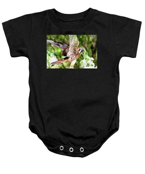 American Kestrel Hawk Baby Onesie