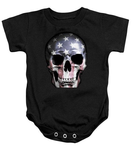 American Skull Baby Onesie