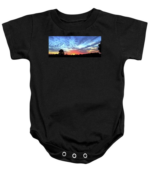 City On A Hill - Americus, Ga Sunset Baby Onesie