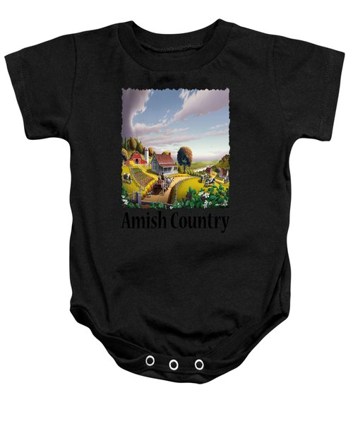 Amish Country - Appalachian Blackberry Patch Country Farm Landscape 2 Baby Onesie