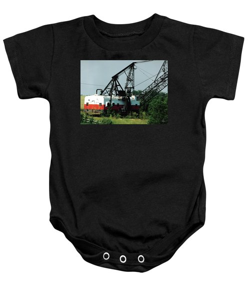 Abandoned Dragline Excavator In Amish Country Baby Onesie