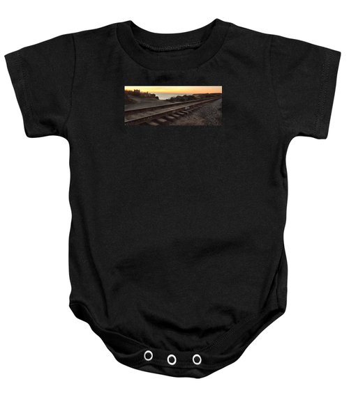 Amtrak On The Pacific Baby Onesie