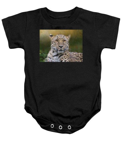 Amur Leopard Baby Onesie