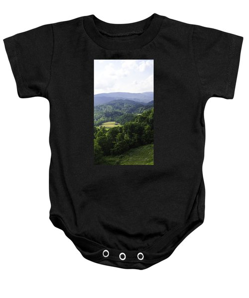 An Old Shack Hidden Away In The Blue Ridge Mountains Baby Onesie