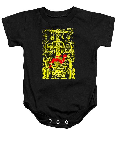 Ancient Astronaut Yellow And Red Version Baby Onesie