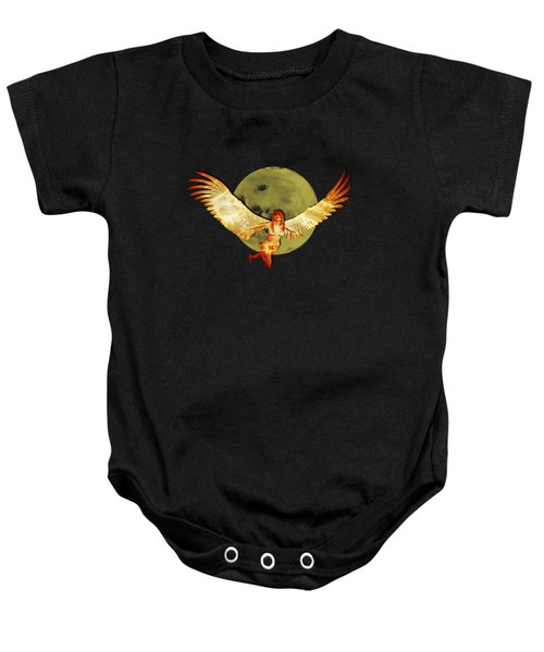 Angel And The Moon Baby Onesie