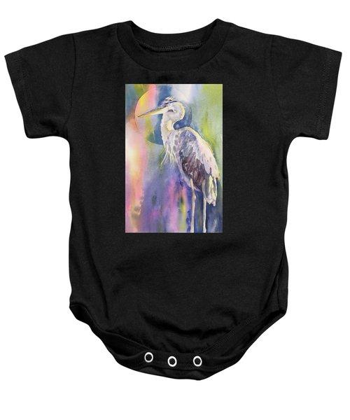 Angel Heron Baby Onesie