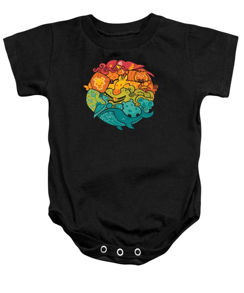 Animals Of The World Baby Onesie