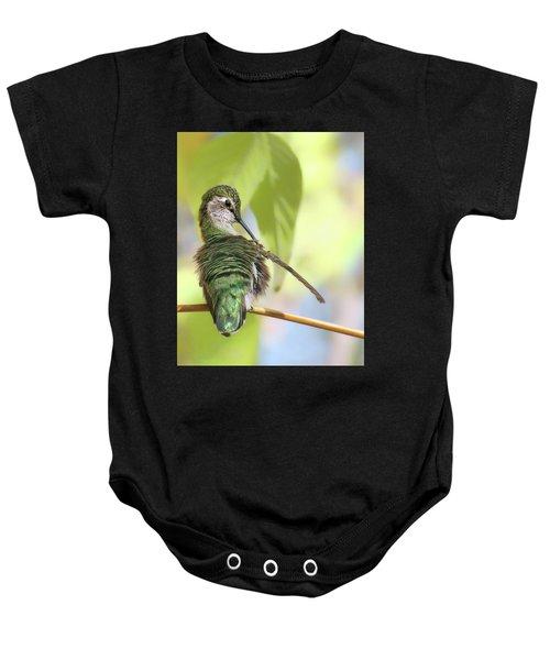 Anna's Hummingbird - Preening Baby Onesie